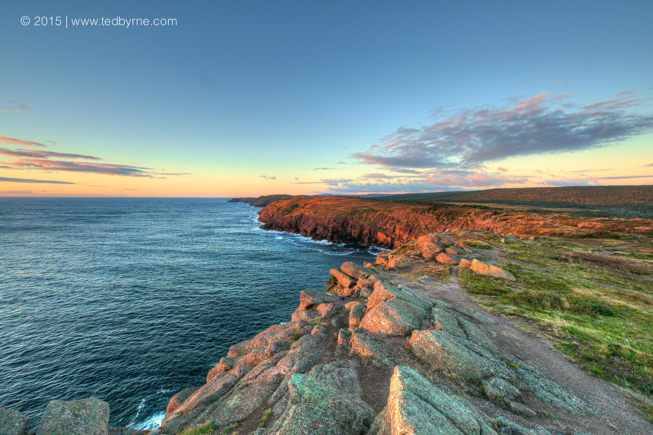 Sunrise on the eastern coast of North America