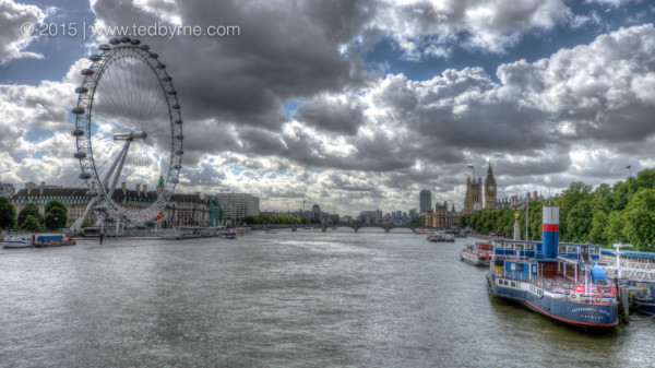The London Eye on the Thames, England