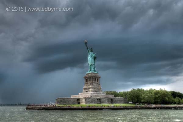Storm Arriving on Lady Liberty – New York, USA