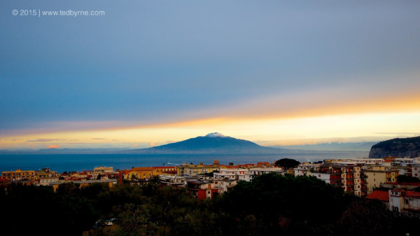 Sunrise on Mount Vesuvius – Sorrento, Italy