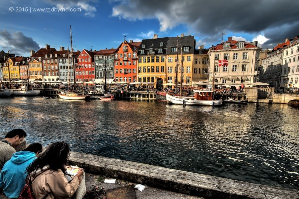 Artists at Nyhavn Harbour – Copenhagen, Denmark