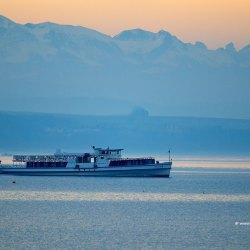 Morning Crossing - Lake Neuchâtel, Switzerland