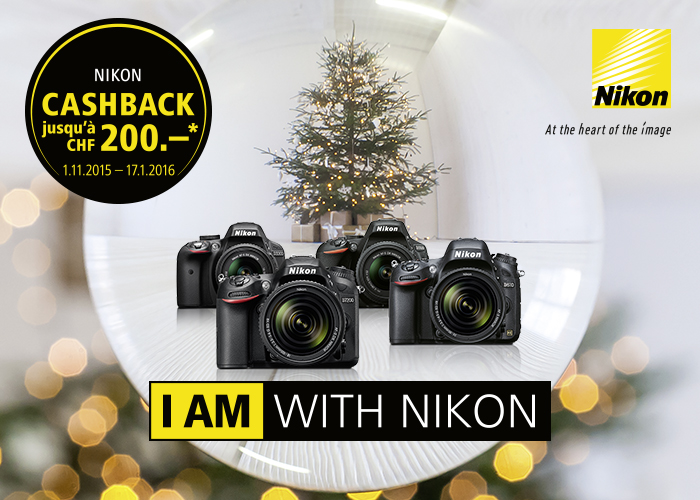 Nikon Swiss Cashback December 2015